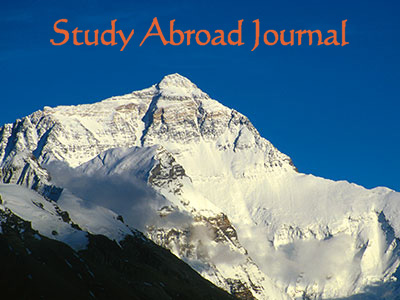 Study Abroad Journal Mount Everest